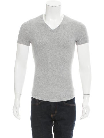 Dsquared² Rib Knit V-Neck T-Shirt None