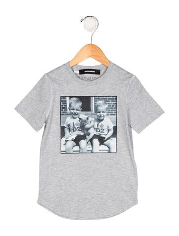 Dsquared² Boys' Printed Knit Shirt w/ Tags None