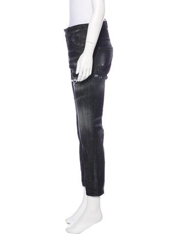 Mid-Rise Straight-Leg Jeans w/ Tags