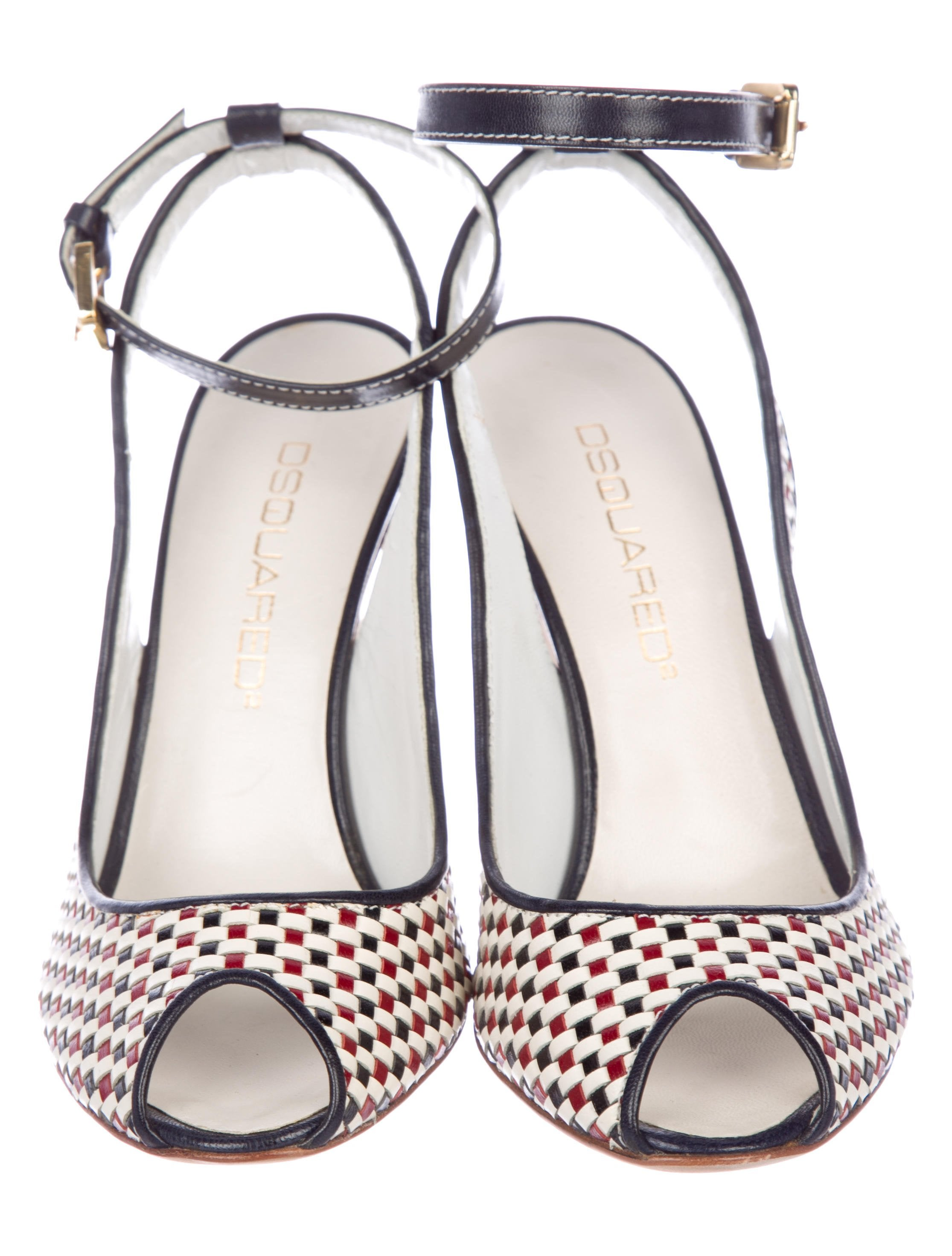 Dsquared² Woven Leather Slingback Sandals buy cheap pictures fPgaiwC