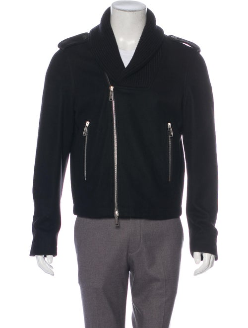 Dsquared² Shawl Collar Biker Jacket black