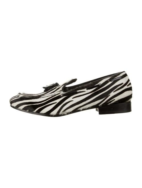 Dsquared² Ponyhair Smoking Slippers black