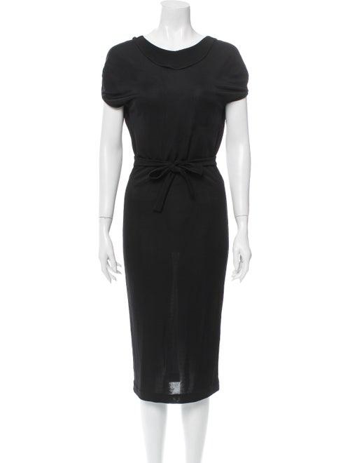 Dsquared² Knit Midi Dress Black