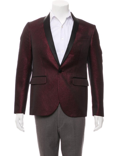 Dsquared² Woven Tuxedo Jacket red