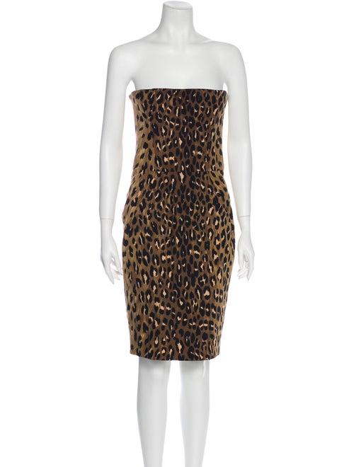 Dsquared² Animal Print Mini Dress