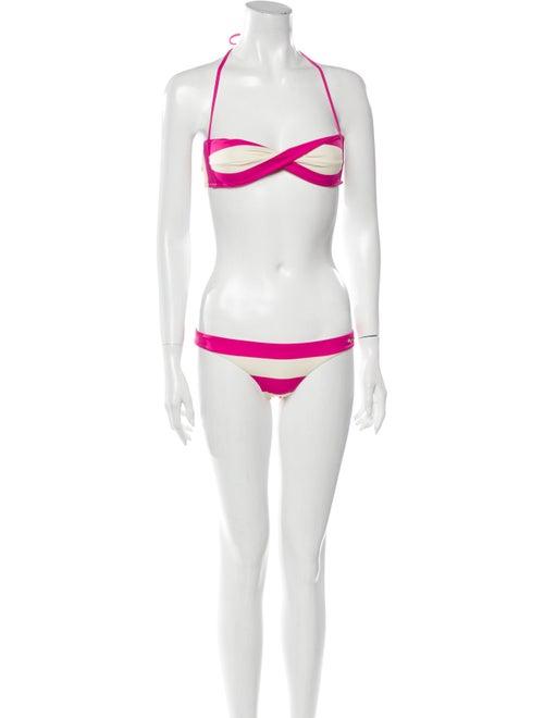 Dsquared² Colorblock Pattern Bikini Pink