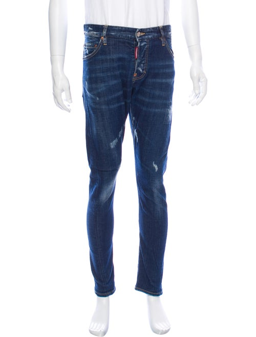 Dsquared² Distressed Skinny Jeans blue