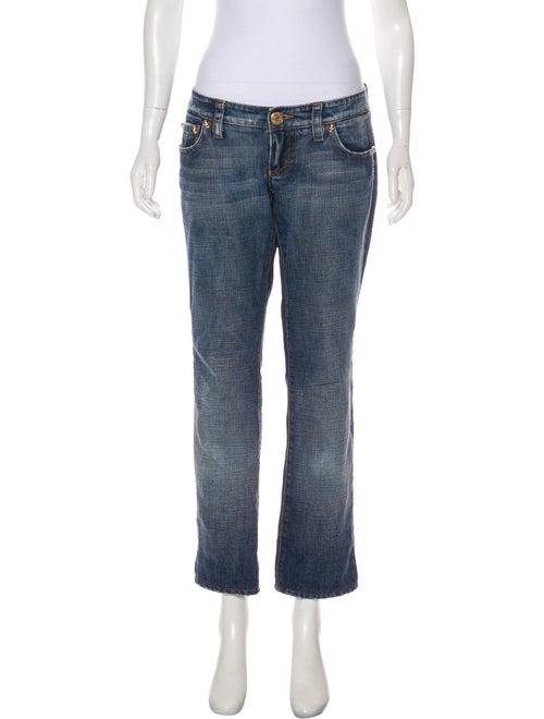 Dsquared² Low-Rise Straight-Leg Jeans blue
