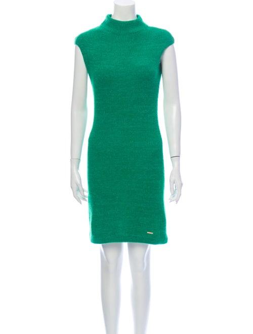 Dsquared² Turtleneck Mini Dress Green