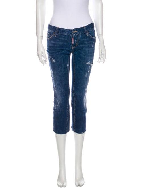 Dsquared² Low-Rise Straight Leg Jeans Blue