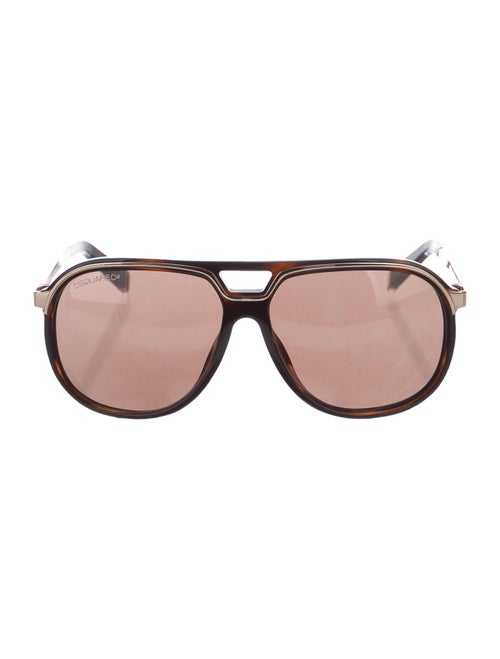 Dsquared² Tinted Aviator Sunglasses brown