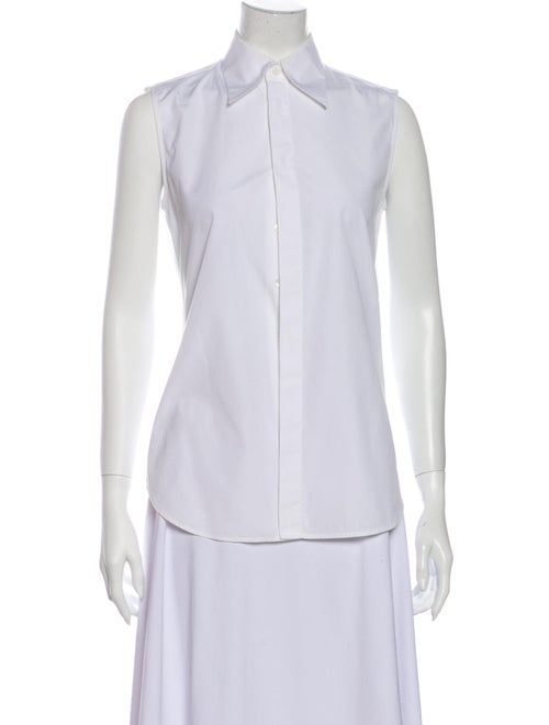 Dsquared² Sleeveless Button-Up Top White