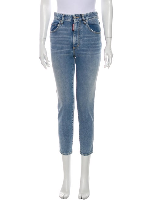 Dsquared² High-Rise Skinny Leg Jeans w/ Tags Blue