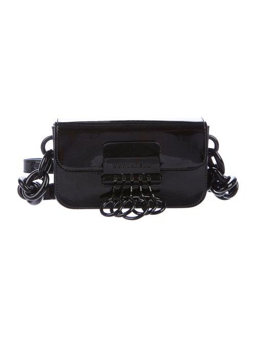 Dsquared² 2020 Leather Key Crossbody Bag Black