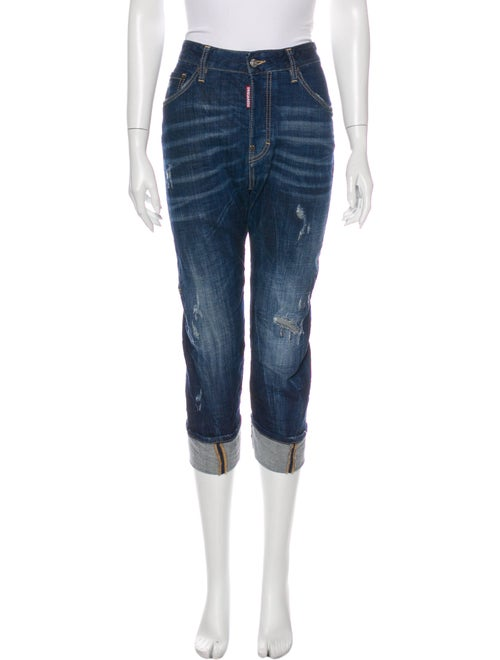 Dsquared² Mid-Rise Straight Leg Jeans Blue