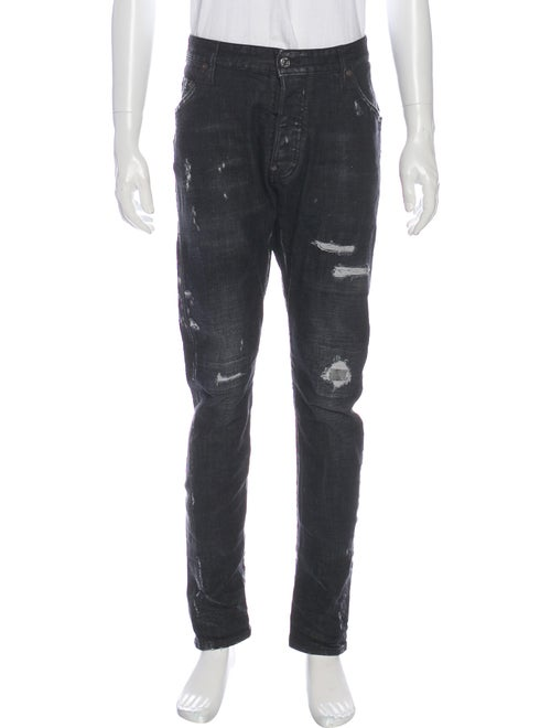 Dsquared² Distressed Slim Fit Jeans Blue