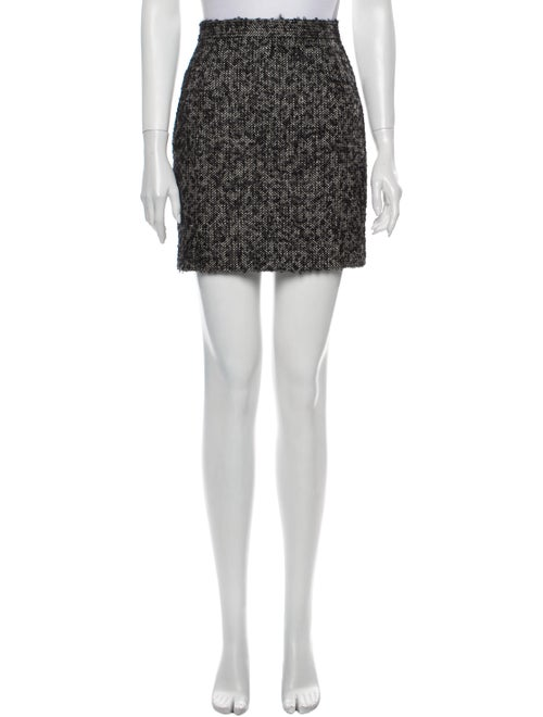 Dsquared² Printed Mini Skirt Black