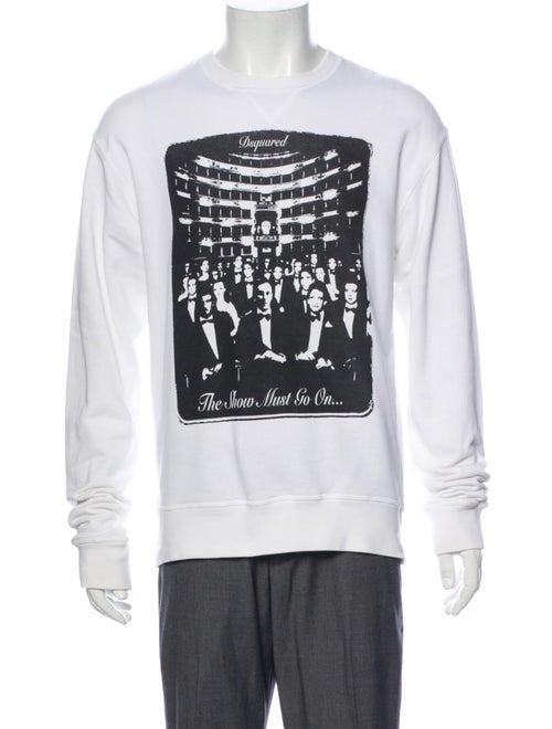 Dsquared² Graphic Print Crew Neck Sweatshirt