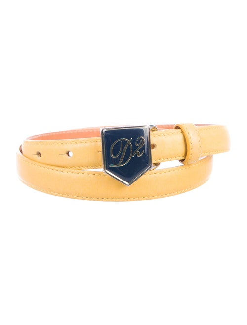 Dsquared² Leather Belt Yellow
