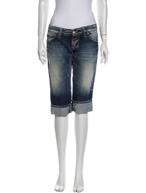 Dsquared² Low-Rise Straight Leg Jeans Blue