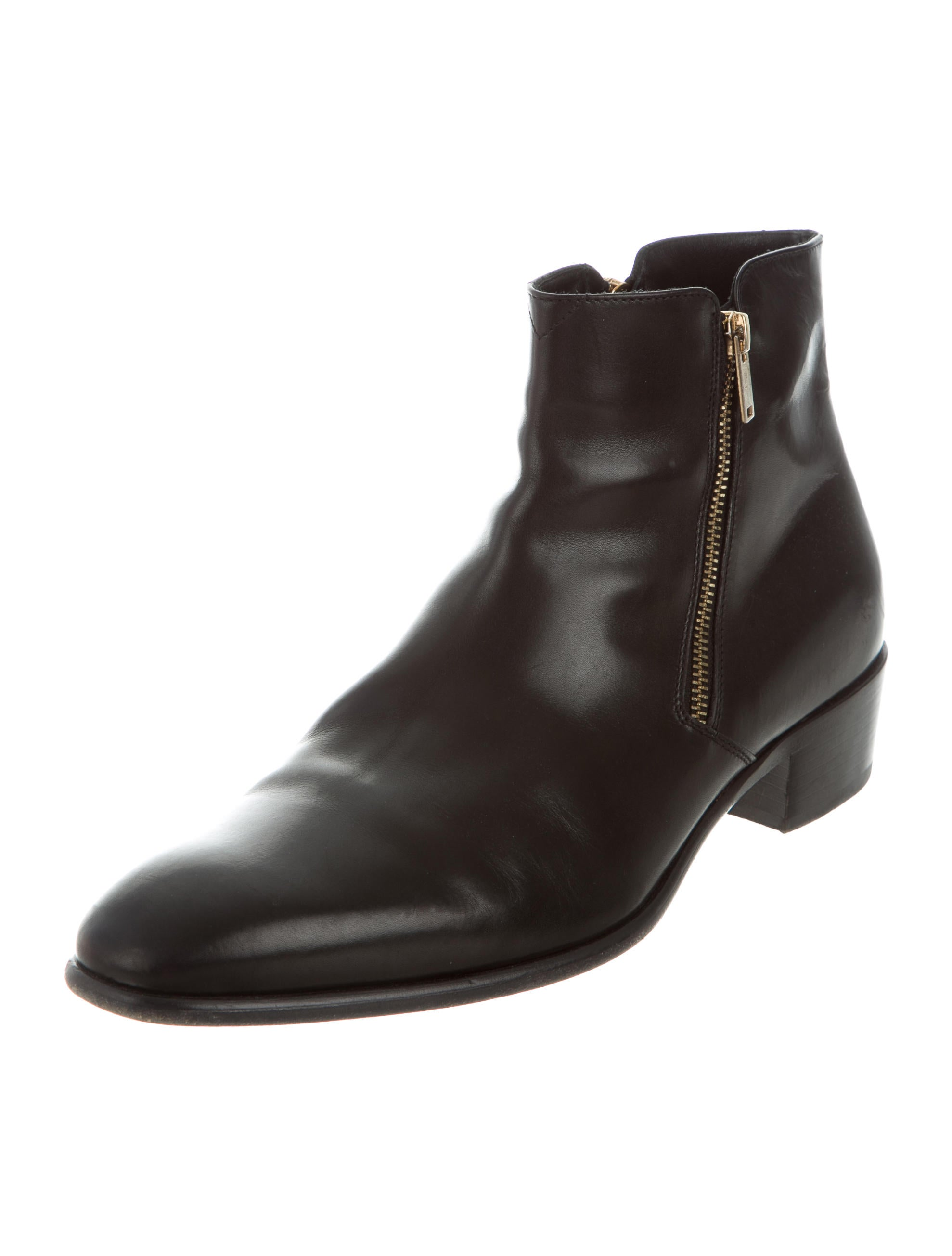 doucal s leather zip boots shoes duc20037 the