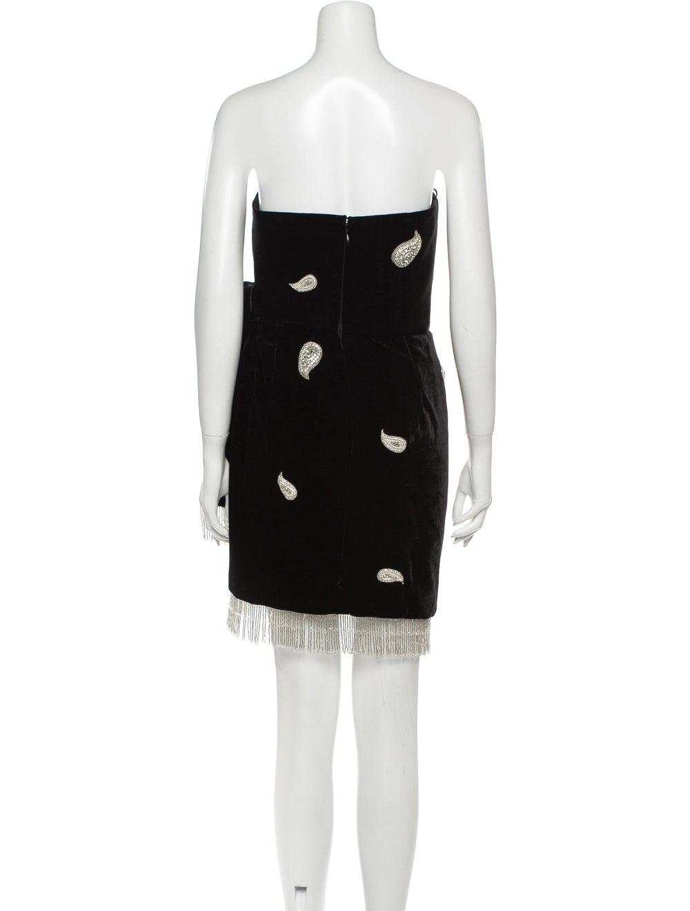 Dundas Paisley Print Mini Dress Black - image 3