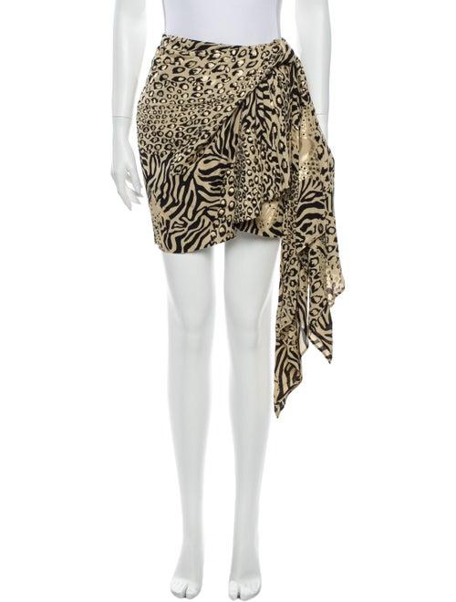 Dundas Animal Print Mini Skirt w/ Tags Metallic