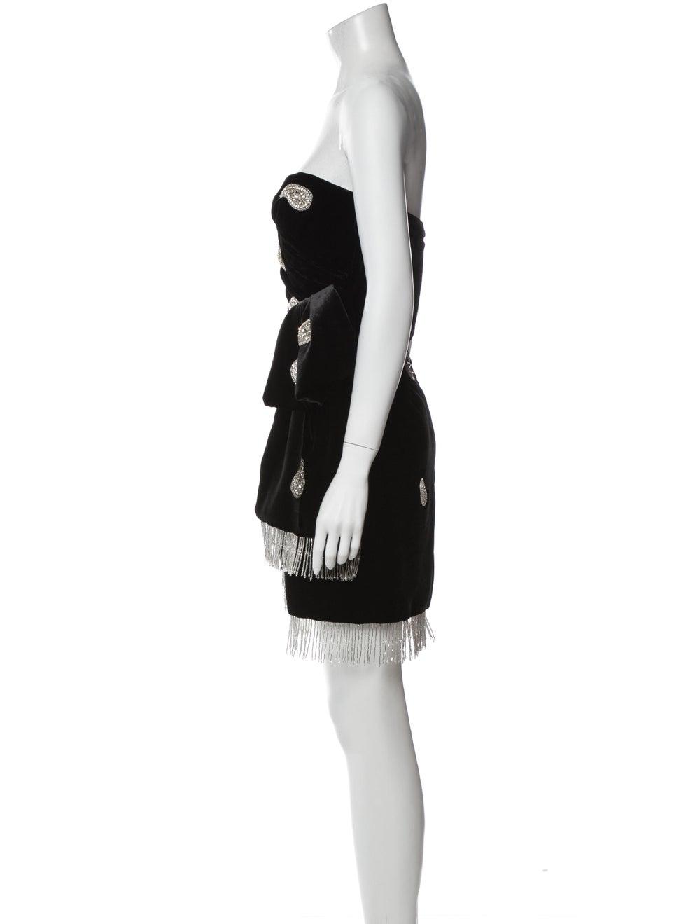 Dundas Paisley Print Mini Dress Black - image 2
