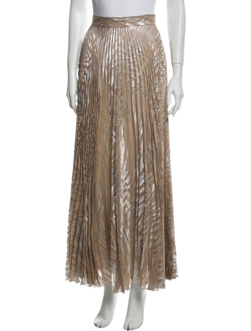 Dundas Silk Long Skirt Metallic
