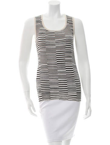Duro Olowu Striped Rib Knit Top None