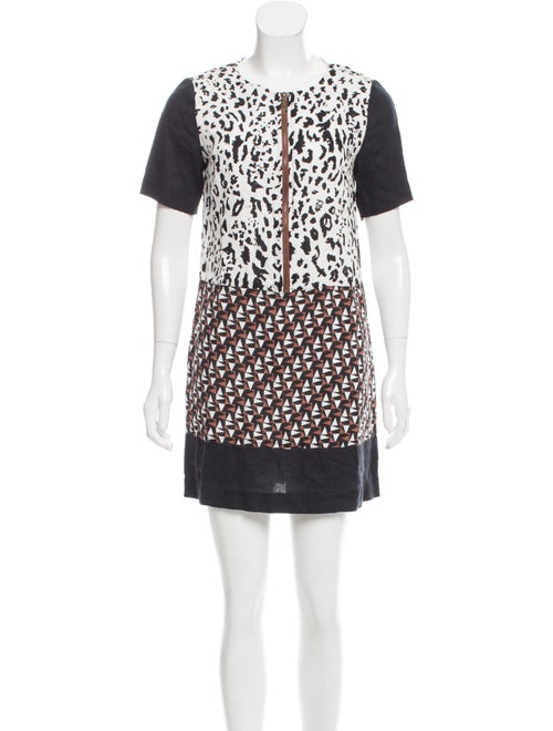 Duro Olowu Printed Shift Dress Multicolor