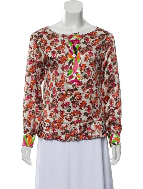 Duro Olowu Floral- Silk Blouse multicolor