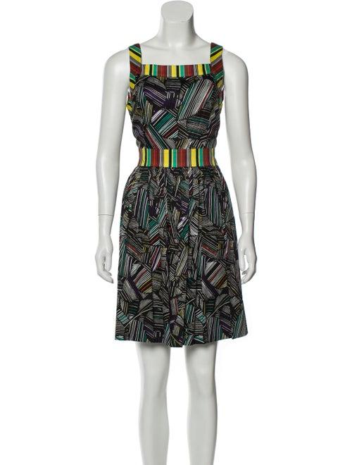 Duro Olowu Printed Mini Dress Black