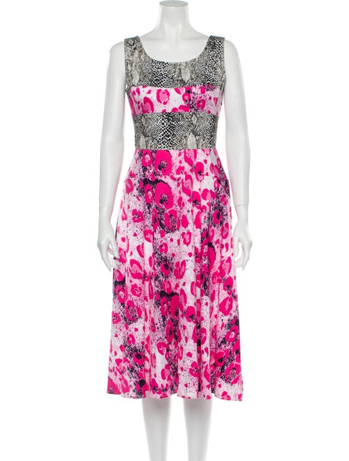 Duro Olowu Animal Print Midi Length Dress