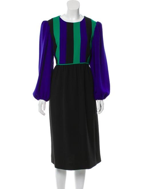 Duro Olowu Striped Midi Length Dress Purple