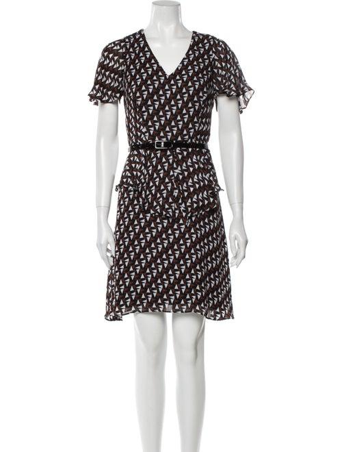 Duro Olowu Printed Mini Dress w/ Tags Brown