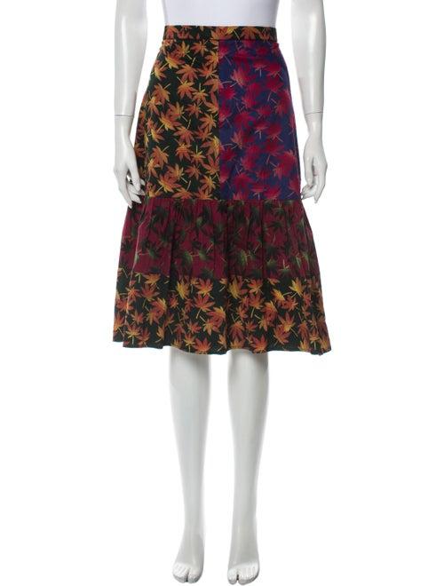 Duro Olowu Printed Knee-Length Skirt