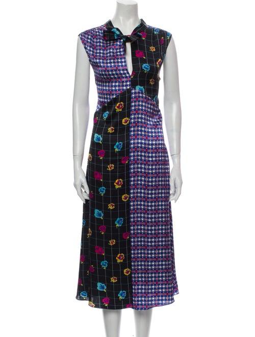 Duro Olowu Silk Midi Length Dress Black