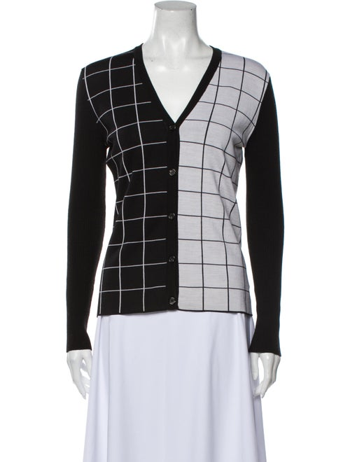 Duro Olowu Virgin Wool Plaid Print Sweater Wool