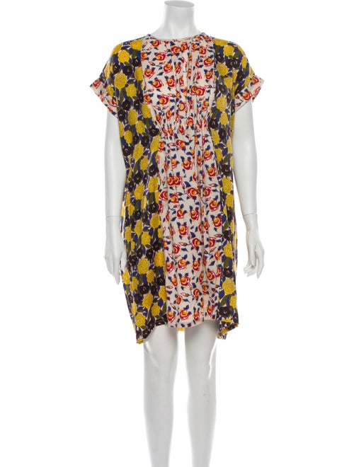 Duro Olowu Vintage Mini Dress Blue