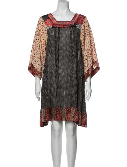 Duro Olowu Printed Mini Dress Red