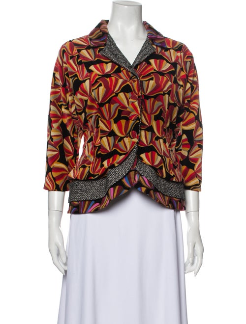 Duro Olowu Printed Evening Jacket Red