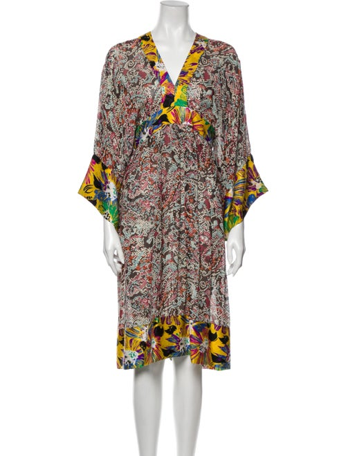 Duro Olowu Printed Midi Length Dress Brown