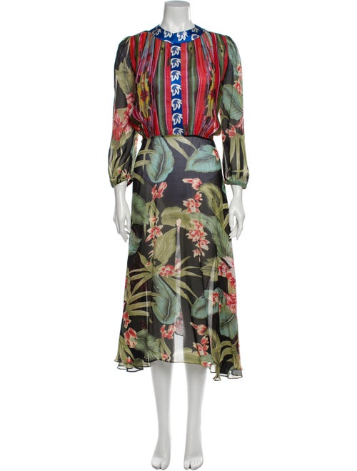 Duro Olowu Printed Long Dress Green