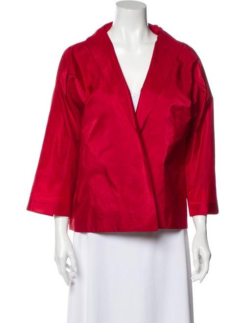 Dusan Silk Evening Jacket Red
