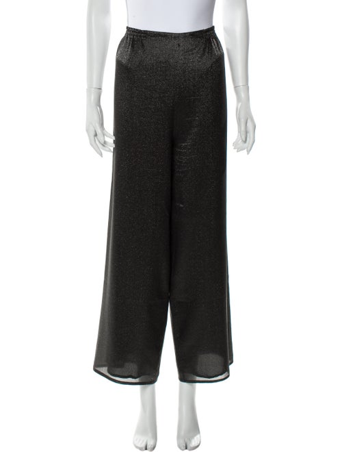 Dusan Silk Wide Leg Pants Black