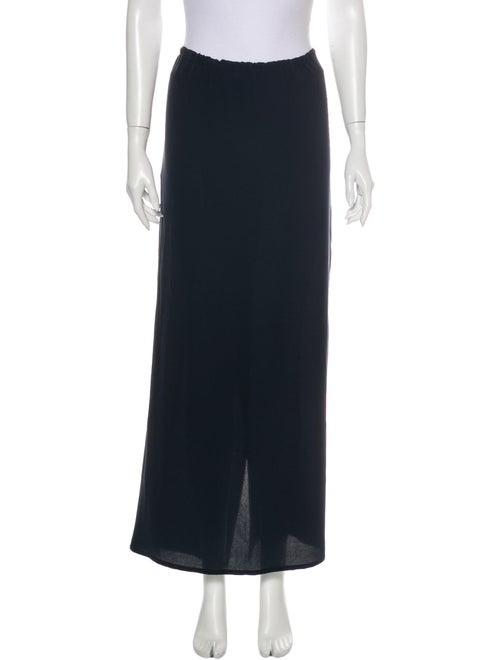 Dusan Silk Midi Length Skirt Blue