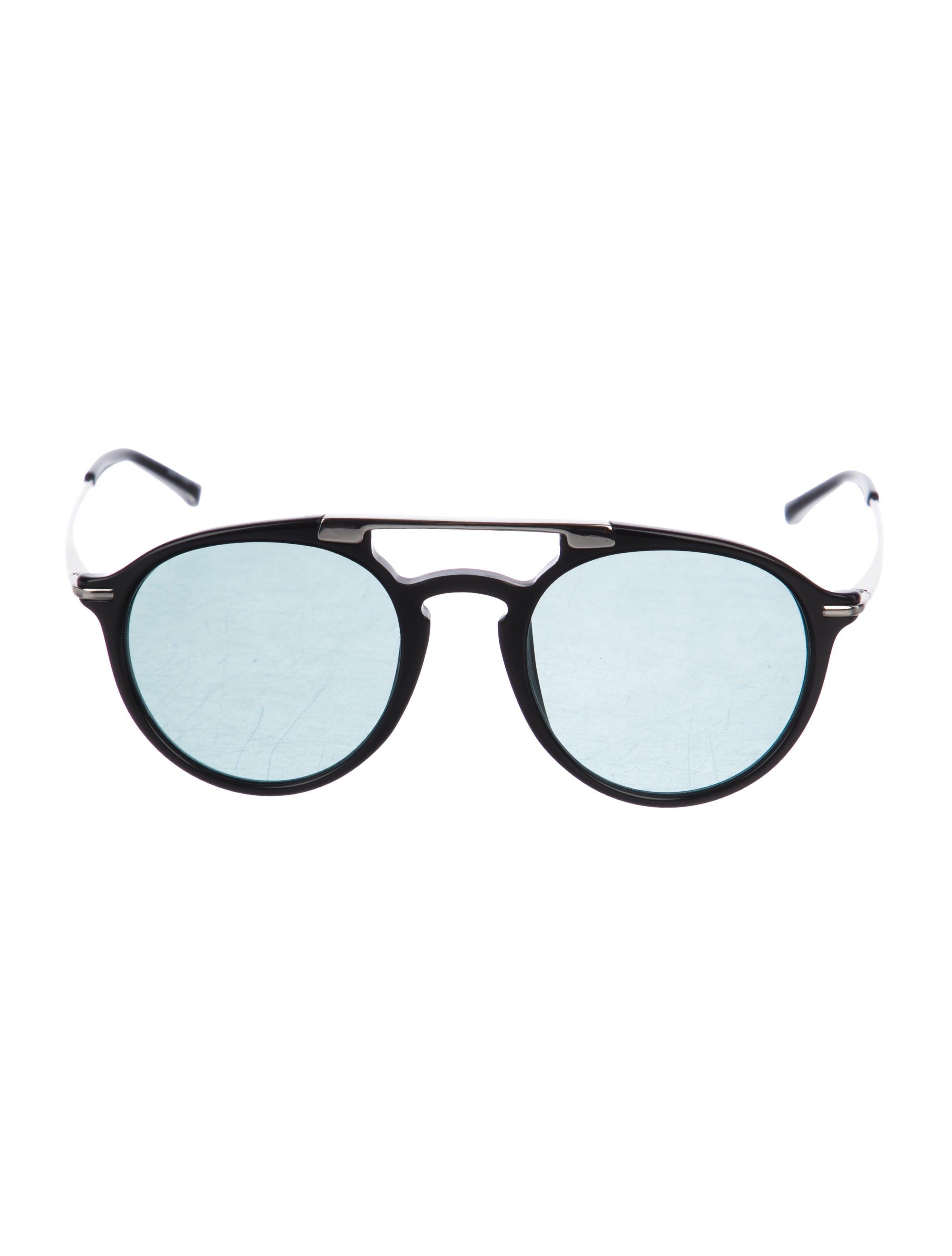 0ffd8af0f87 Linda Farrow x Dries Van Noten Tinted Round Sunglasses - Accessories ...