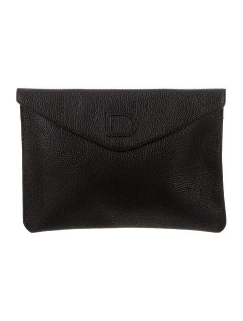 Delvaux Envelope Clutch Black