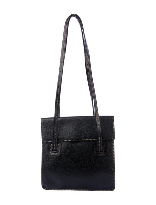 Delvaux Vintage Leather Shoulder Bag Black